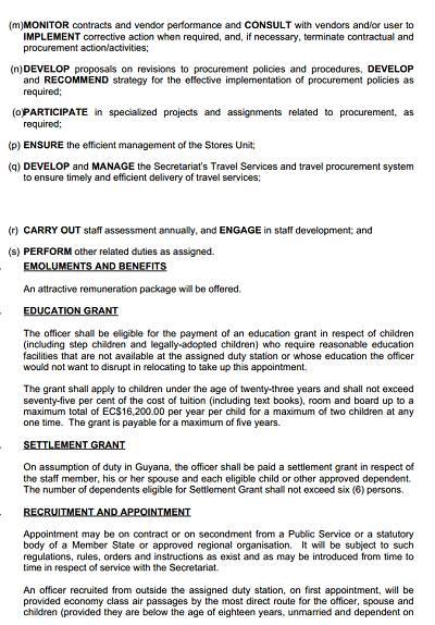 Legal jobs caribbean