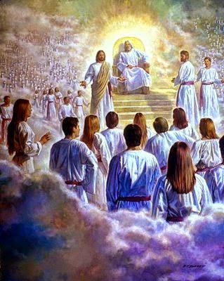God Jesus throne of heaven