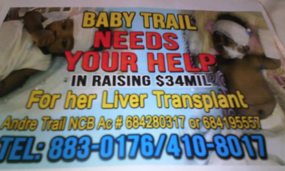 baby in need of liver transplant